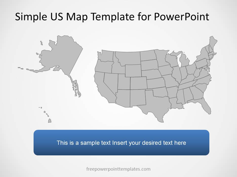 US Map Template For PowerPoint With Editable States SlideModel - Free interactive us map