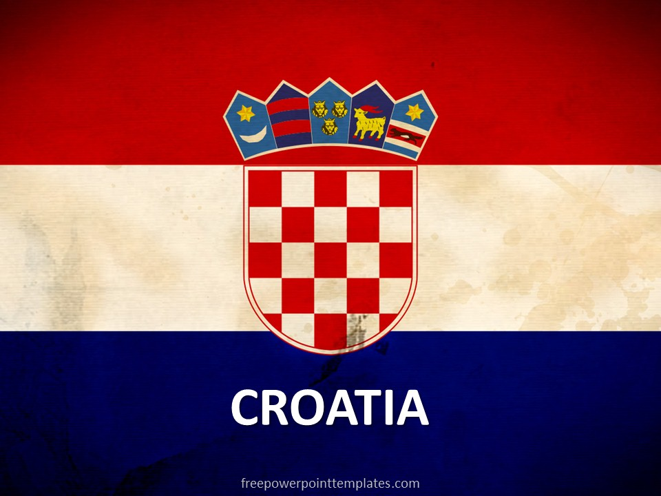 Croatia Flag Template