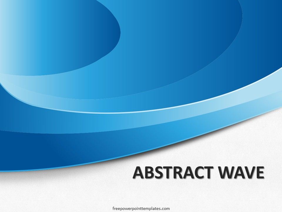 free abstract blue wave powerpoint template