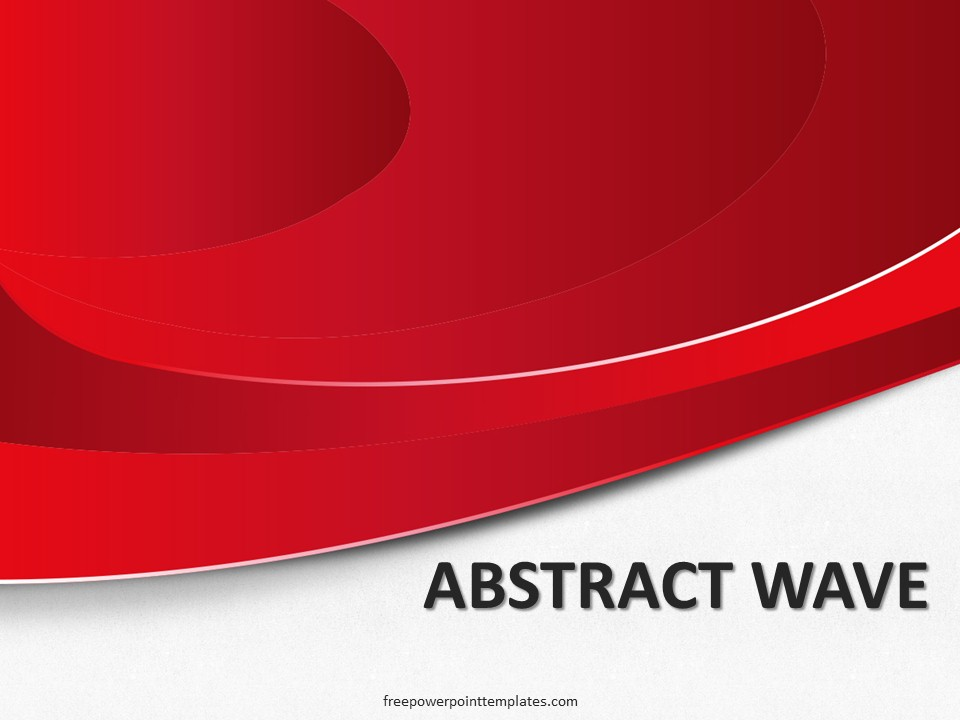 free abstract red wave powerpoint template, Powerpoint