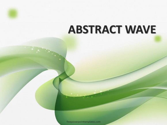 10175 Wavy Abstract Green Fppt 1 Free Powerpoint Templates