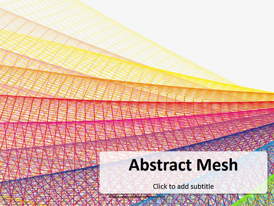 free abstract mesh powerpoint template, Modern powerpoint