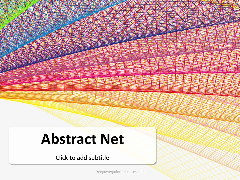 free abstract net powerpoint template, Modern powerpoint