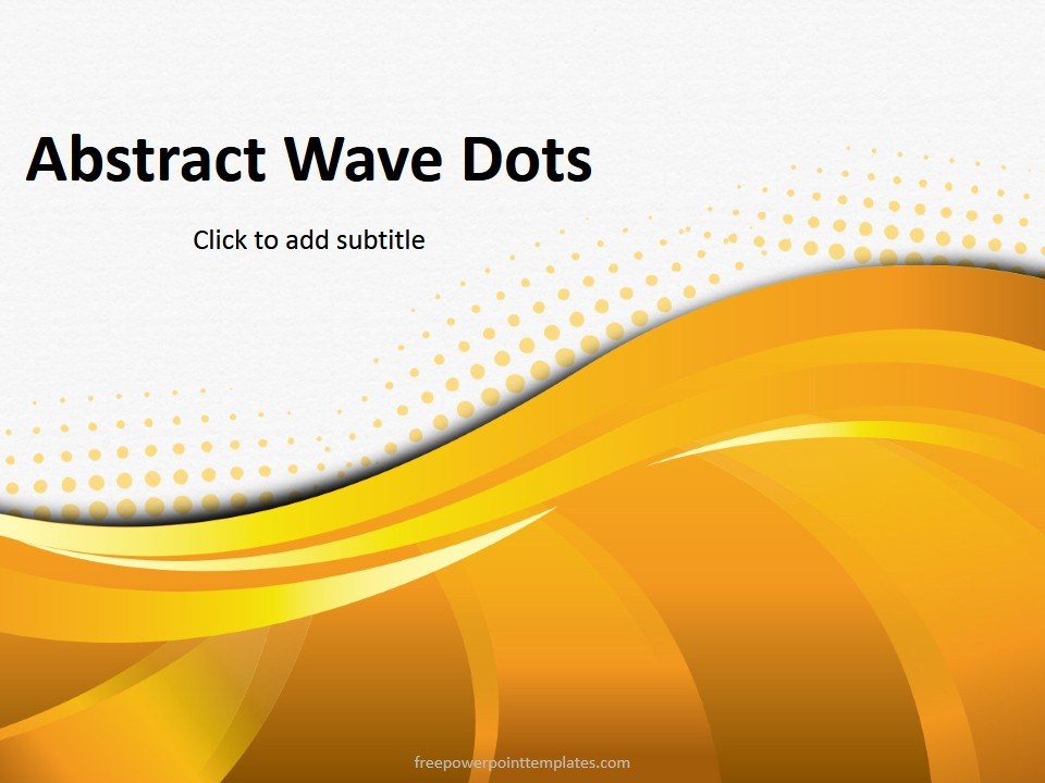 Free powerpoint templates abstract orange dots powerpoint template toneelgroepblik Choice Image
