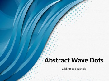 Free three way waves powerpoint template toneelgroepblik Image collections