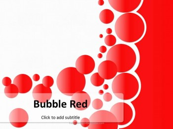 Free bubble red powerpoint template toneelgroepblik Images