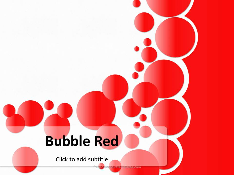 free bubble red powerpoint template, Powerpoint