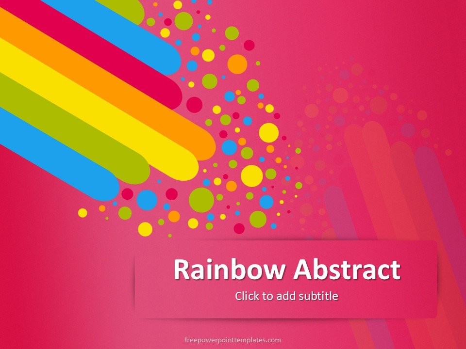 Free powerpoint templates free pink rainbow abstract powerpoint template toneelgroepblik Images