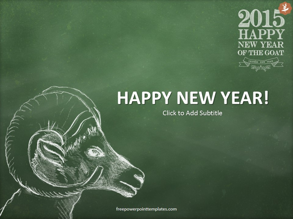 Happy new year 2015 powerpoint template toneelgroepblik