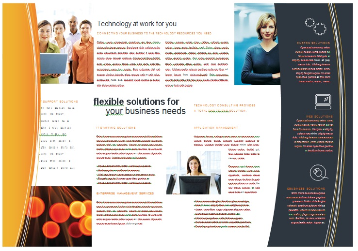 free brochure template  free powerpoint templates, Powerpoint