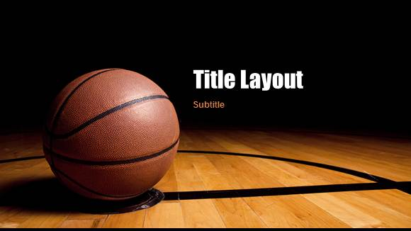 Free Basketball Template For Powerpoint Online - Free Powerpoint