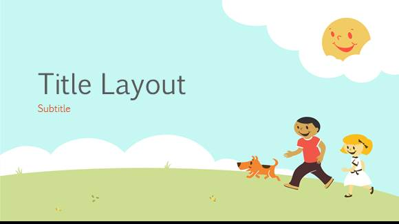 free elementary school playground template  free powerpoint templates, Powerpoint