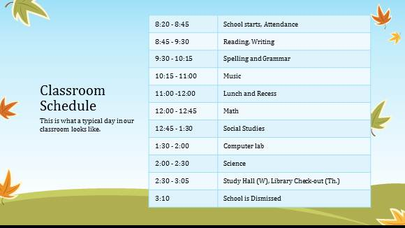 elementary school schedule maker free thevillas co