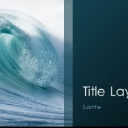 Free Sea waves template for PowerPoint Online-1