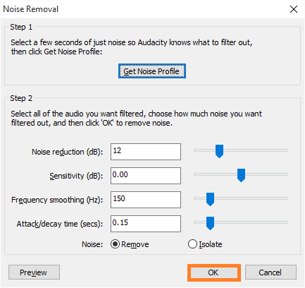 Use Audio - Audacity - Noise Removal - 3 - FreePowerPointTemplates