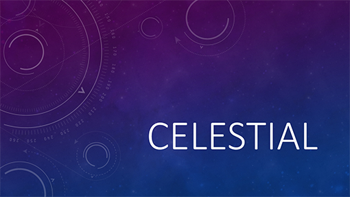 free celestial powerpoint template online