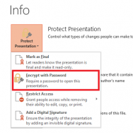 Click File menu - Protect Presentation 2 - Featured -- freepowerpointtemplates