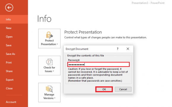 Click File menu - Protect Presentation 3 - Powerpoint 2013 - freepowerpointtemplates