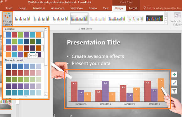 how to choose a consistent color scheme in powerpoint, Modern powerpoint
