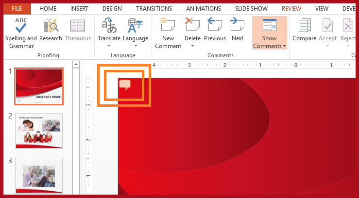 how to add comments in powerpoint 2013 and powerpoint 2016