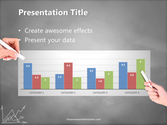 How to choose a consistent color scheme in powerpoint presentations consistant color slide 3 blackboard graph white chalkhand freepowerpointtemplates toneelgroepblik Choice Image