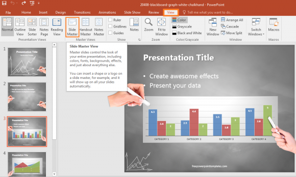 how to change master slide in powerpoint