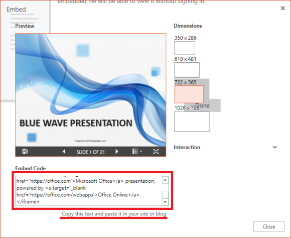 Embed -- PowerPoint Online - File - Share - Embed - 3 - FreePowerPointTemplates