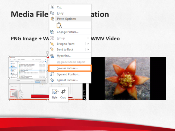 Extract Images -- Slide Online - Save as Picture... - FreePowerPointTemplates
