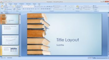 Free BookStack -- Featured - PowerPoint Template - 1 - 580x320