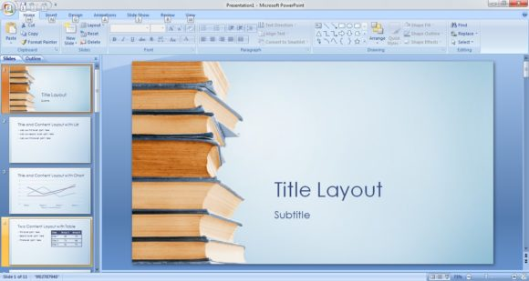 Free BookStack PowerPoint Template 1