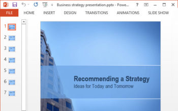 Free Business Strategy PPT Template featured image - http://freepowerpointtemplates.com
