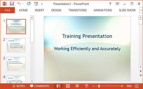 free employee training ppt template