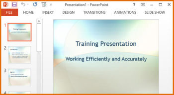 Free Employee Training PPT Template -- Featured