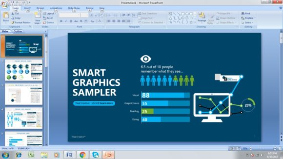 free graphics sampler powerpoint template - free powerpoint templates, Modern powerpoint