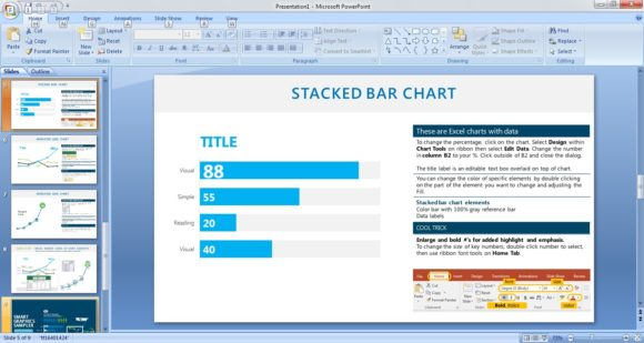 Free Graphics Sampler PowerPoint Template 4