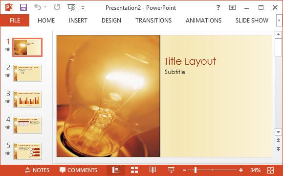Free Idea Design PPT Template 1