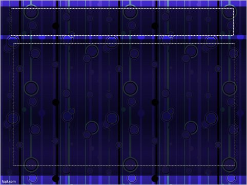Free Purple and Blue Circles Pattern Template -- Cover - 2 - FreePowerPointTemplates