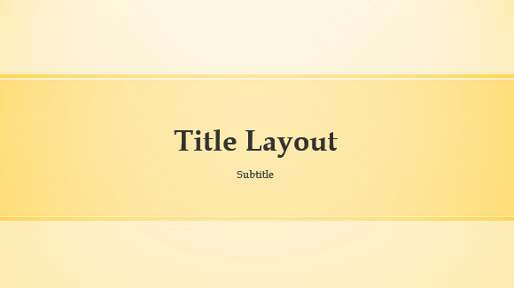 Free Yellow Band Template for PowerPoint Online 1