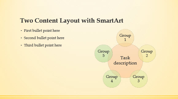 Free Yellow Band Template for PowerPoint Online 3