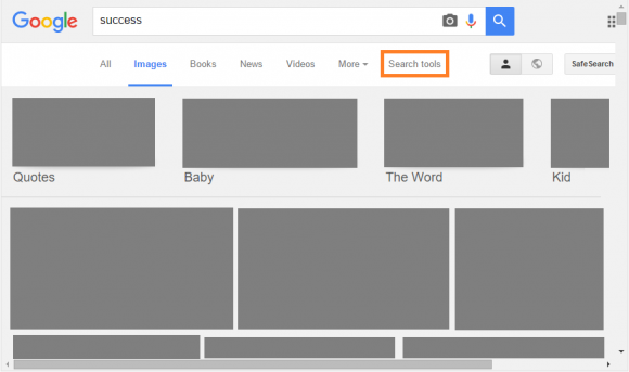 Google Images - Search Tools - 1.1 - FreePowerPointTemplates