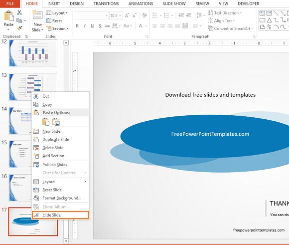 Hidden Slides -- Hide Slide - 1 - 580 - FreePowerPointTemplates