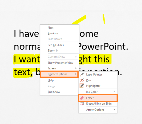 Highlight -- Highlighting Text - 4 - Eraser - FreePowerPointTemplates