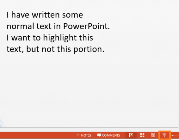 Highlight -- Highlighting Text - Slide Show Mode - PowerPoint 2016 - FreePowerPointTemplates