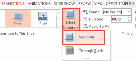 How To Apply Transition Effects in PowerPoint 2013 2