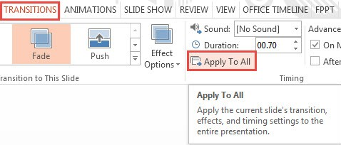 How To Apply Transition Effects in PowerPoint 2013 3