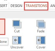 How To Apply Transition Effects in PowerPoint 2013 4
