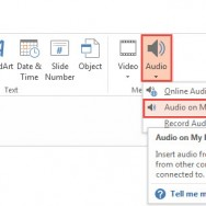 How To Insert Audio in PowerPoint 2013 1