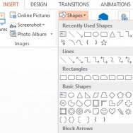 How To Insert Shapes in PowerPoint 2013 1