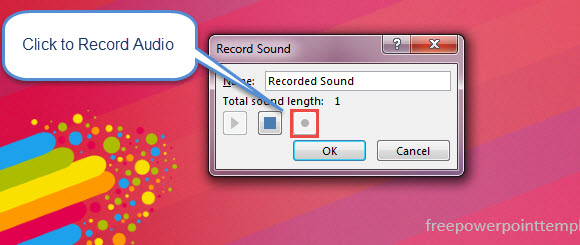 How To Record Audio on a Slide in PowerPoint 2013 2