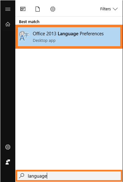 Language -- Start - Office Language Preferences - FreePowerPointTemplates